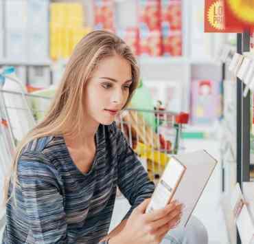 etykiety produktów spożywczych