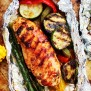 Grilled Barbecue Chicken And Vegetables In Foil Recipe