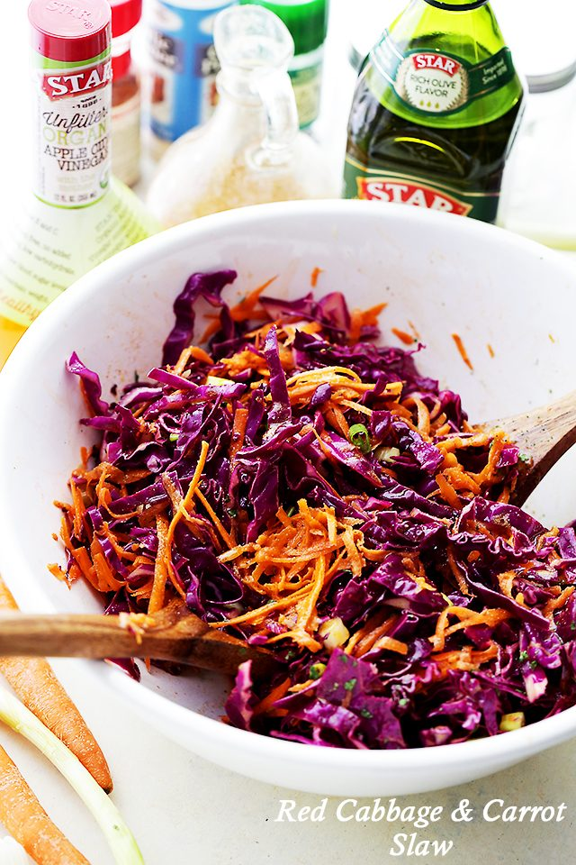 Red Cabbage and Carrot Slaw Recipe - Diethood