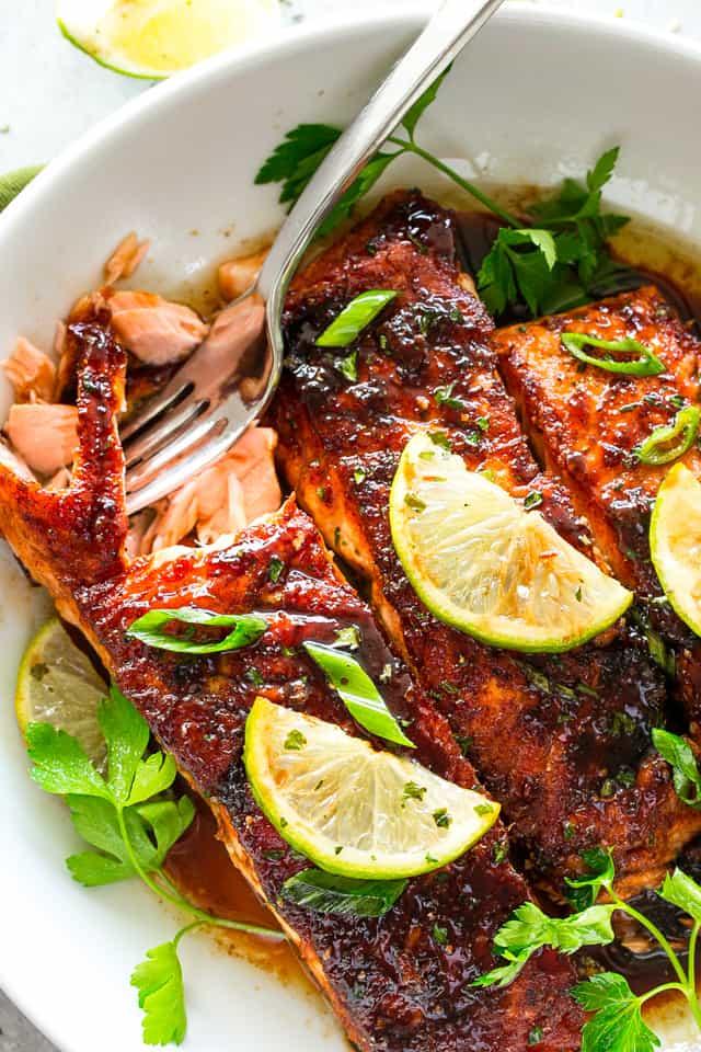 Brown Sugar Glazed Salmon The BEST Salmon Recipe Ever