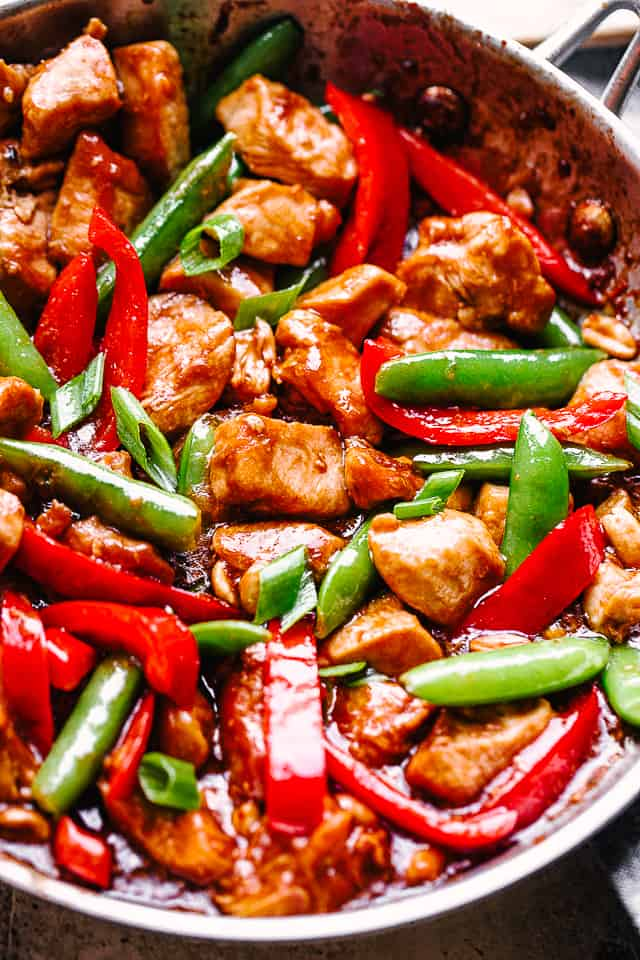 Easy Kung Pao Chicken Recipe - Just Like Chinese Take Out!