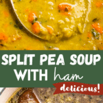 split pea soup two picture collage pin