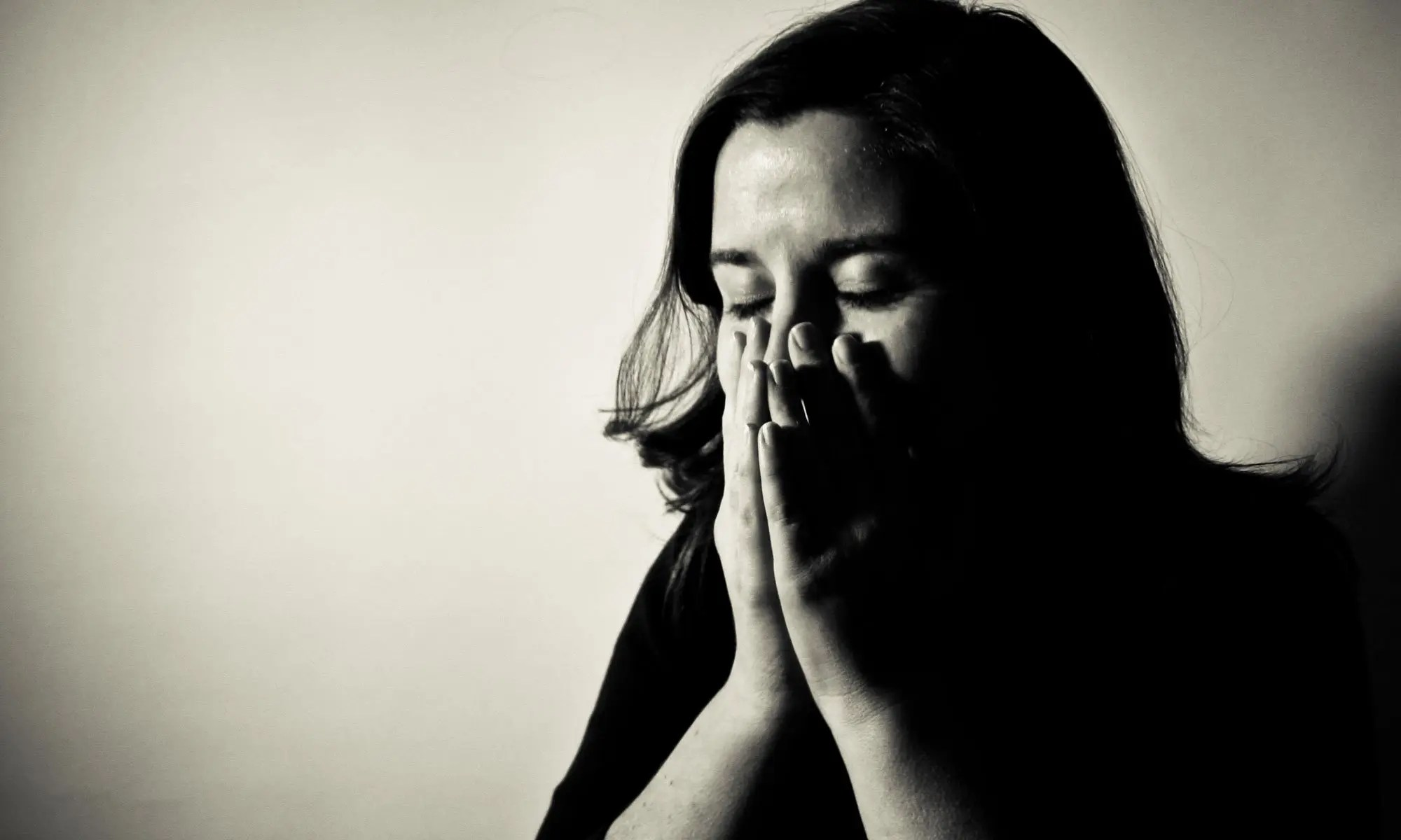 image of stress in woman