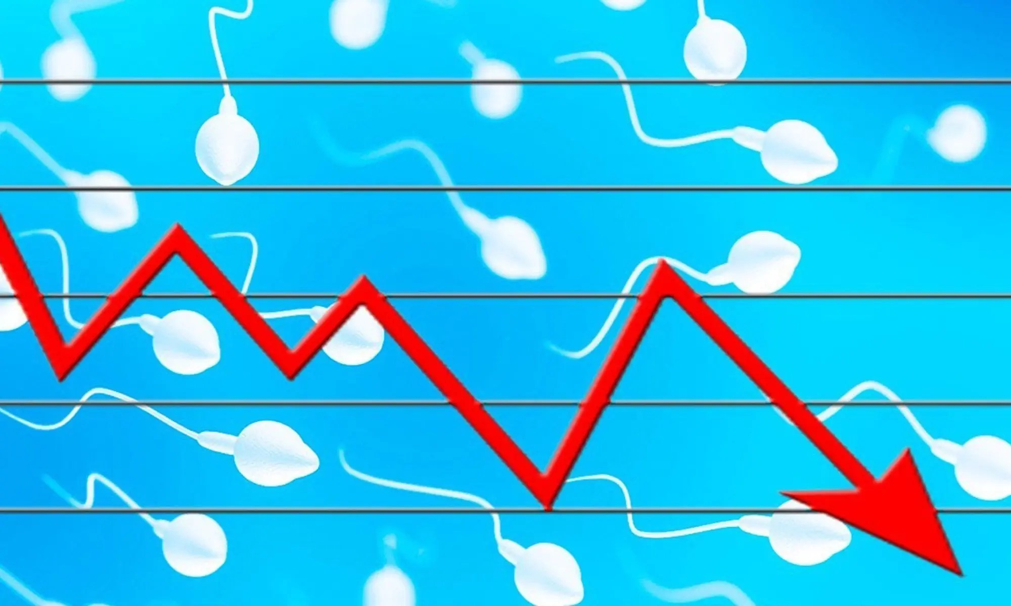 image of falling sperm counts