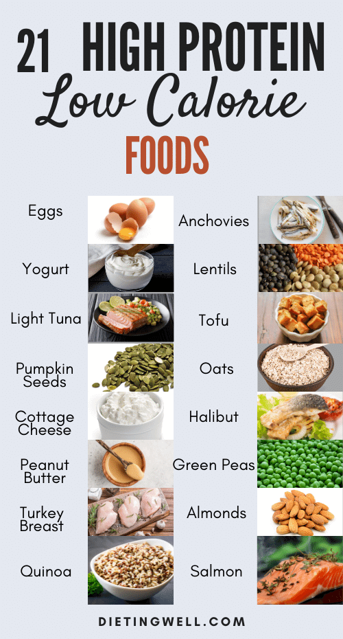 21 High Protein Low Calorie Foods for Weight loss