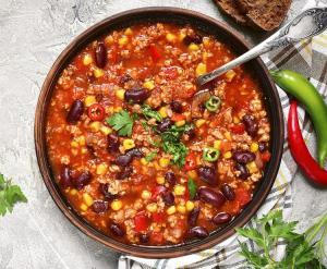 chilli con carne recept gezond dIetist Leuven