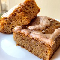 Paleo Pumpkin Bars with Cinnamon Coconut Butter Frosting