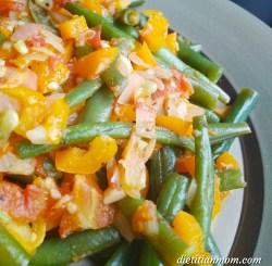 Vegan, plantbased, eggfree, dairyfree, nutfree, glutenfree, cayenne green beans, side dish, vegetarian, clean eating, whole foods, plant-based recipe
