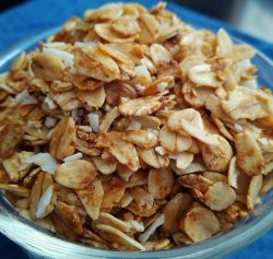 Easy vegan, vegetarian, plant-based, egg-free, dairy-free, nut-free, gluten-free homemade granola recipe
