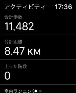 アップルウォッチのエクササイズデータ