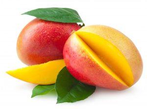 enjoying a mango