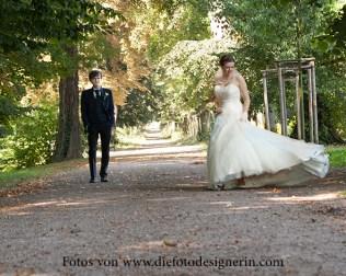 Spaß beim Brautpaarshooting