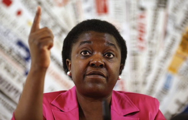 File photo of Italian Minister for Integration Cecile Kyenge during a news conference in Rome