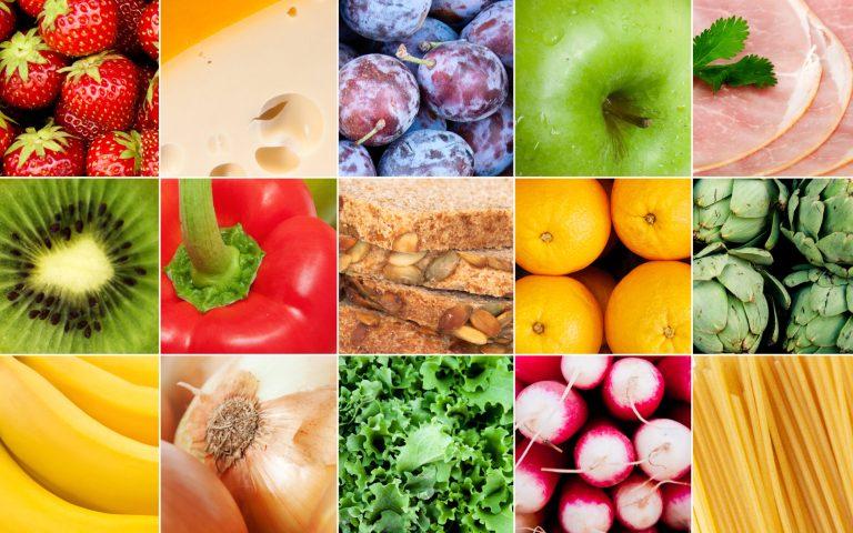 разноцветные фрукты