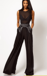 Wide Leg Satin Pants