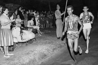 Olympic Athletes Abebe-Bikila Photo Central Press-Getty Images