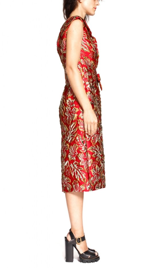 prada-red-gold-brocade-dress-5