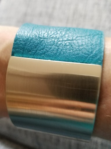 Leather and Metal Cuff bought in Greece