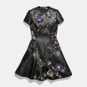 Coach x Rodarte Circle Dress with Leather Sequins, $2,500