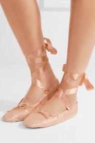 Ballet Beautiful Satin Ballet Slippers Pink