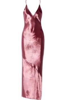 Fleur du Mal Velvet Chemise Pink