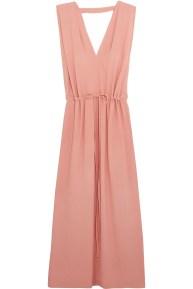 Jil Sander Crepe Maxi Dress Pink
