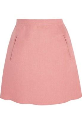 Valentino Linen Baby Pink Mini Skirt