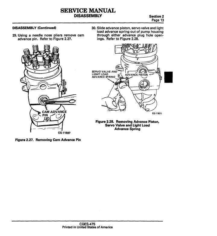 Navistar-CGES-475-Service-Manual-Standadyne-DB2-Disassembly