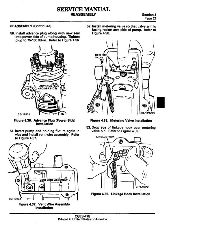 Navistar-CGES-475-Service-Manual-Standadyne-DB2-Disassembly