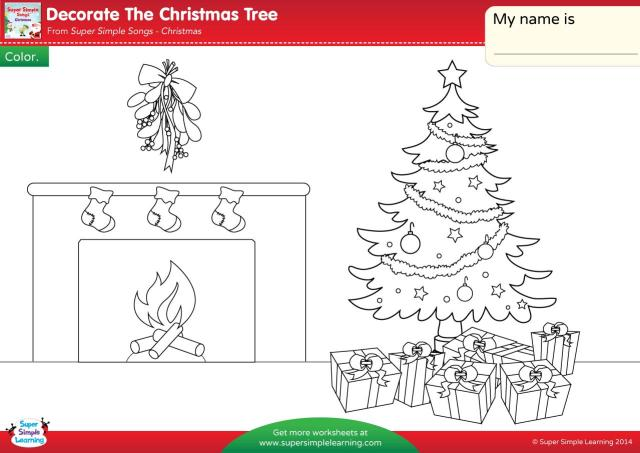 Christmas Worksheets For Kids/ Coloring Pdf