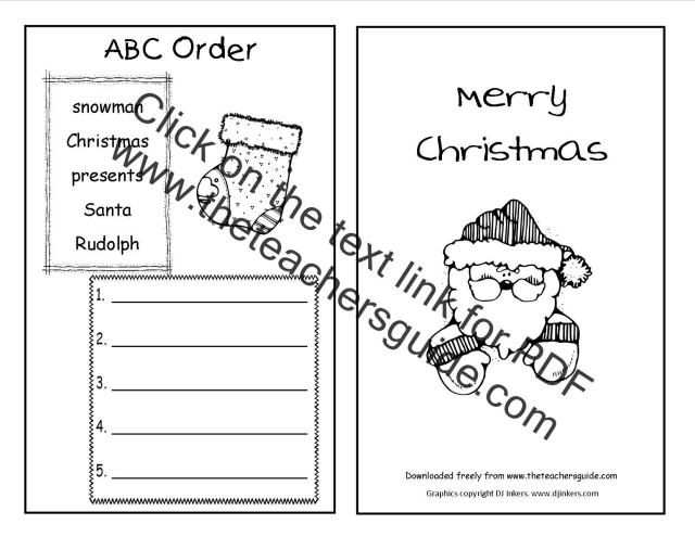 Christmas Worksheets For Middle School