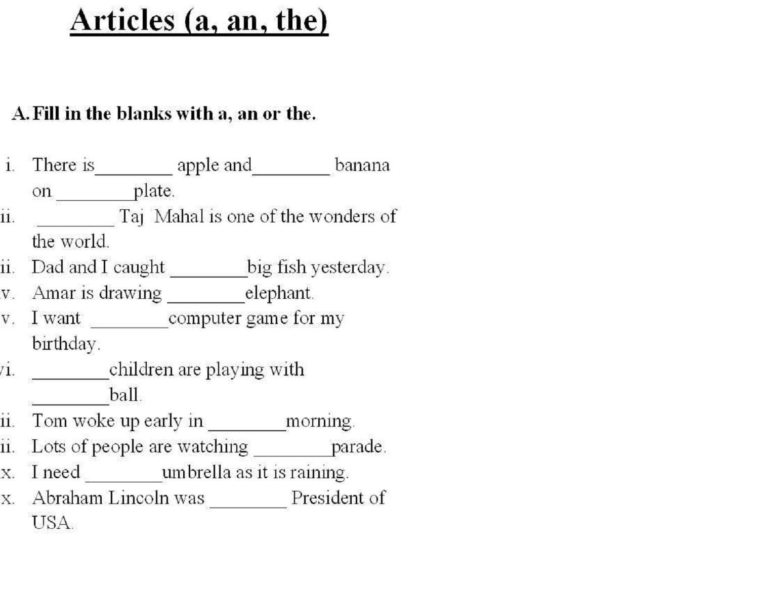 English Worksheets For Grade 11