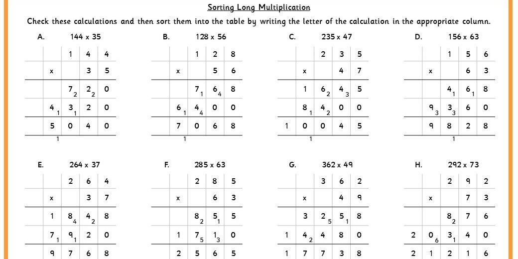 Double Digit Multiplication Worksheets And Answers