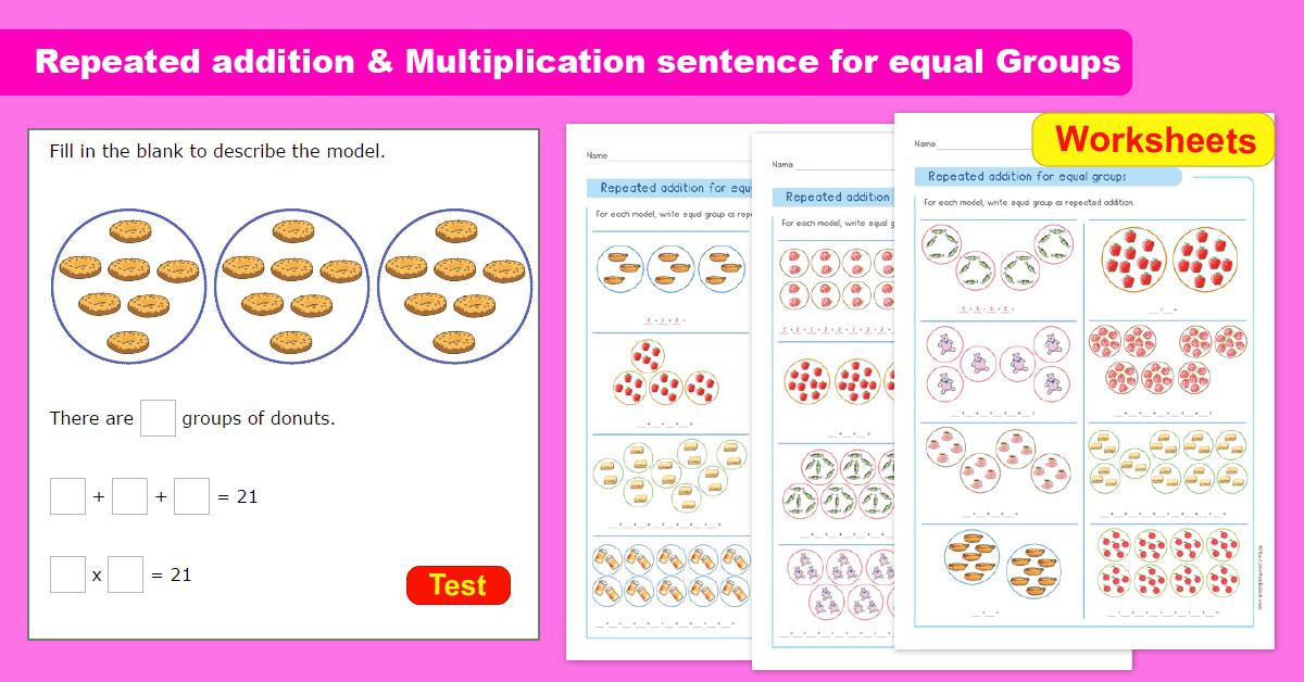 Equal Groups Of Multiplication Worksheets