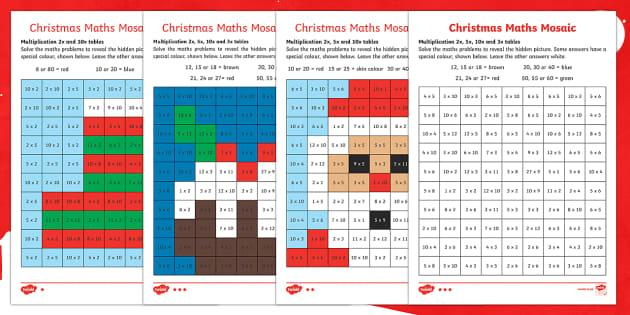 Free Christmas Multiplication Worksheets 3rd Grade
