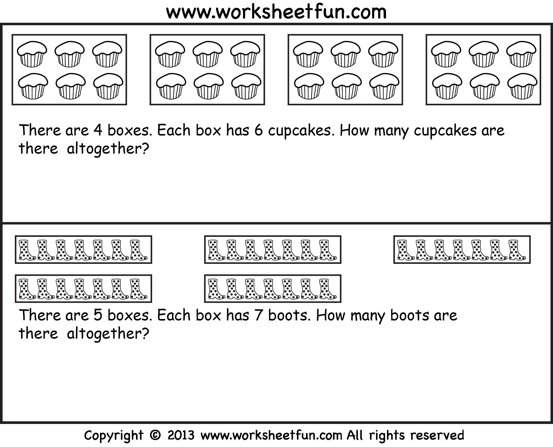 Free Worksheets Multiplication As Repeated Addition
