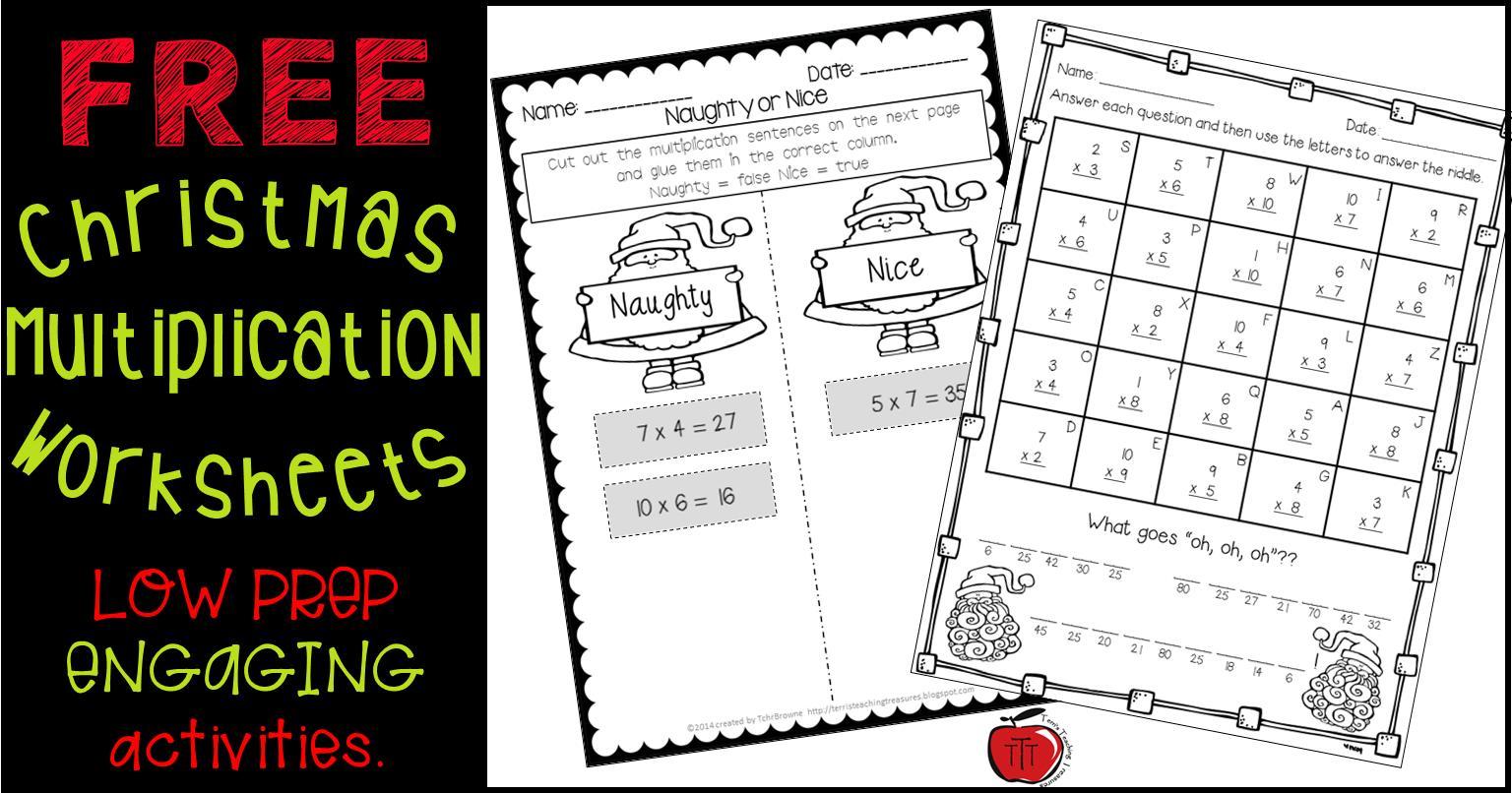Holiday Multiplication Worksheets 3rd Grade