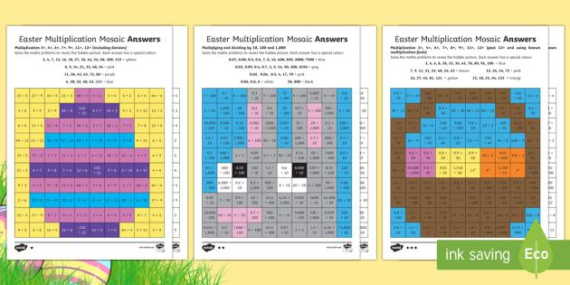 Multiplication Easter Worksheets 2
