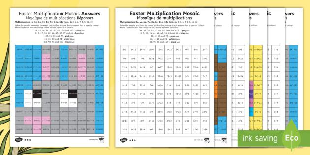 Multiplication Easter Worksheets 4