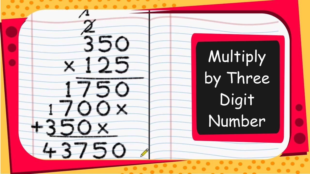 Multiplication Worksheets Big Numbers 3