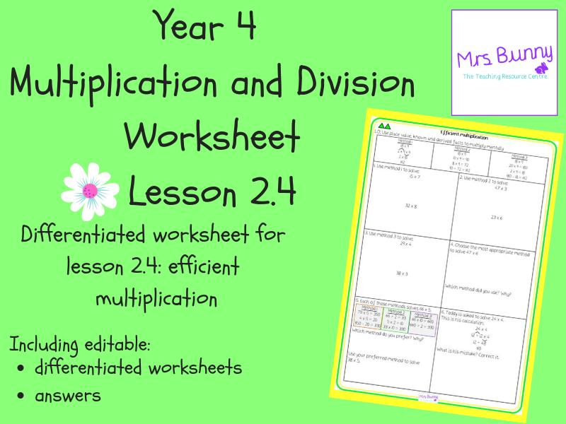 Multiplication Worksheets By 4 1