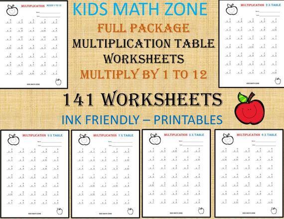 Multiplication Worksheets Grade 4 100 Problems