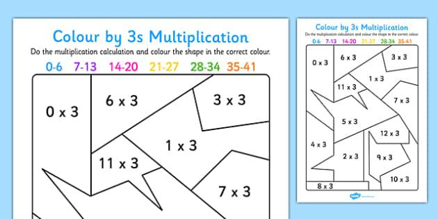 Multiplication Worksheets 3's And 4's