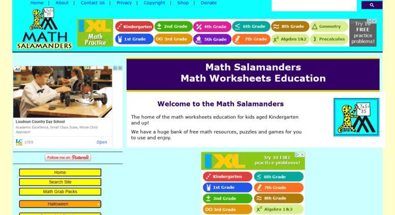Multiplication Worksheets Math Salamanders 3