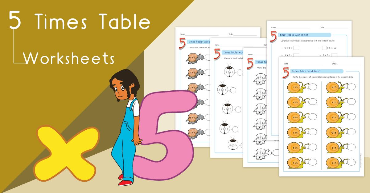 Multiplication Worksheets Number 5 1