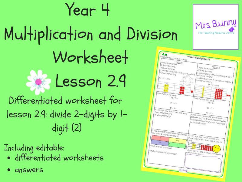 Multiplication Worksheets Remainders 1