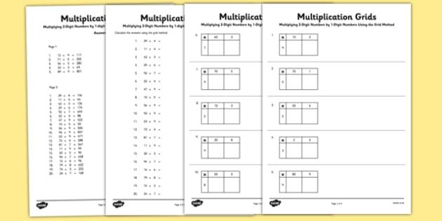 3 Digit By 3 Digit Multiplication Worksheets With Grids