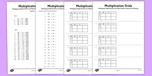Free Multiplication Worksheets 3 Digit By 2 Digit
