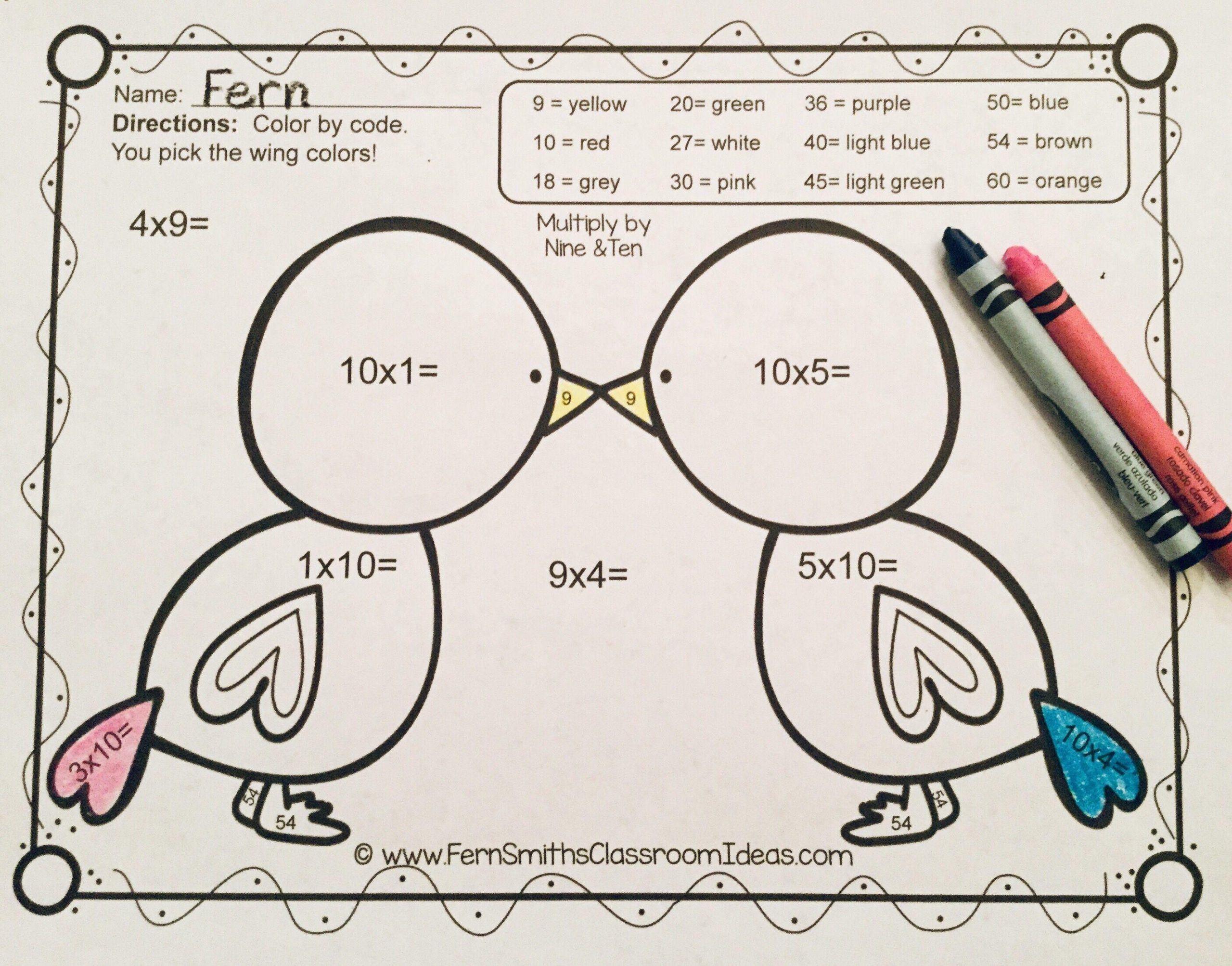 Math Coloring Worksheets Valentines