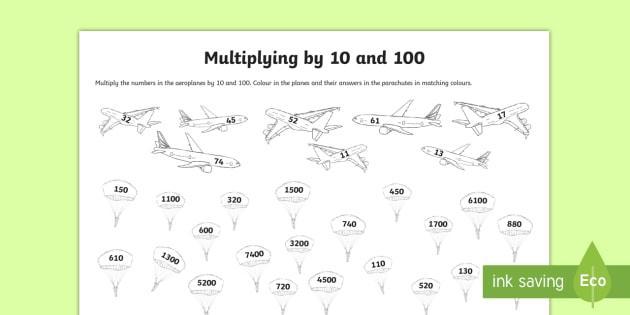Multiplication Across Zeros Worksheets 5